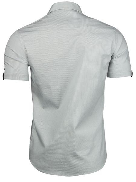 Trisens Herren Hemd gestreicht Kurzarm Baumwolle – Bild 9
