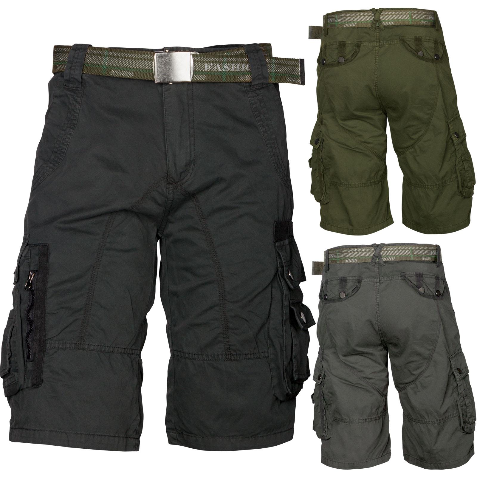 b4b7e6203c392 Trisens Herrenshorts Bermuda Cargo Shorts inkl. Gürtel