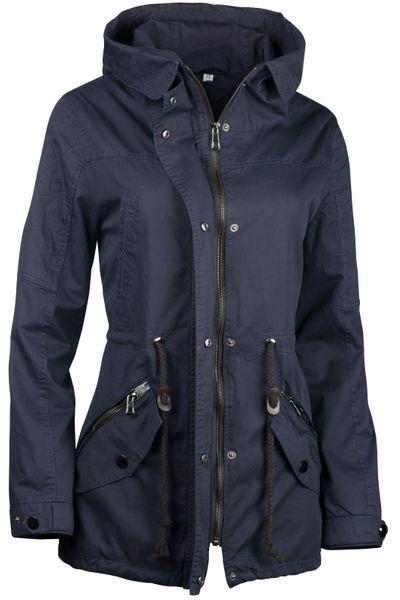 Damen Jacke Übergangsjacke Trenchcoat mit Kapuze Baumwolle Cotton – Bild 4