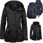 Damen Jacke Übergangsjacke Trenchcoat mit Kapuze Baumwolle Cotton 001