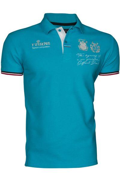 Trisens Herren Polo Shirt Modern Fit Baumwolle Sommer – Bild 17