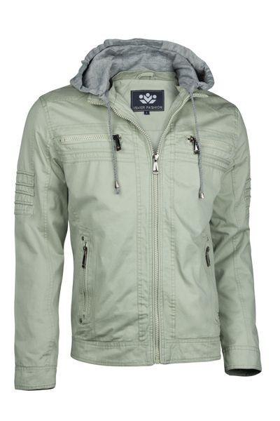 Herren Cotton Jacke Übergangsjacke mit Kapuze Sommer Frühling Windbreaker – Bild 22
