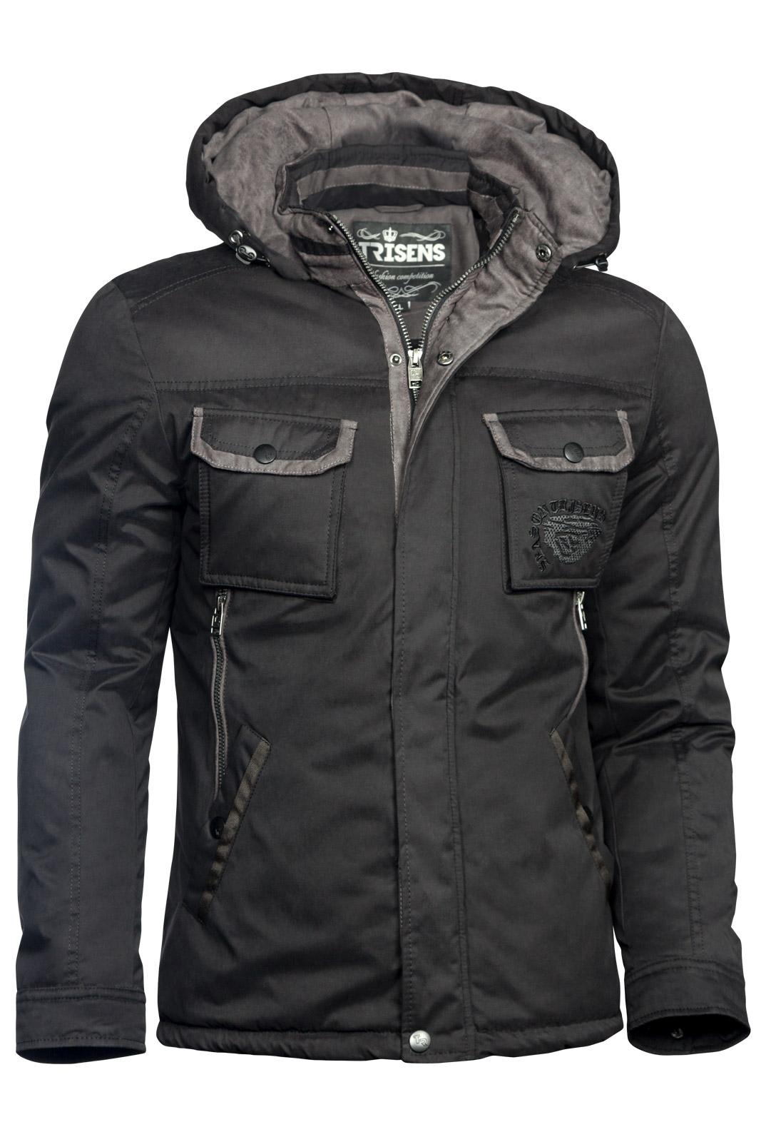 Trisens Herren Cotton Winterparka Wasserdichte Jacke Herren Mode Jacken e4b6df49a6