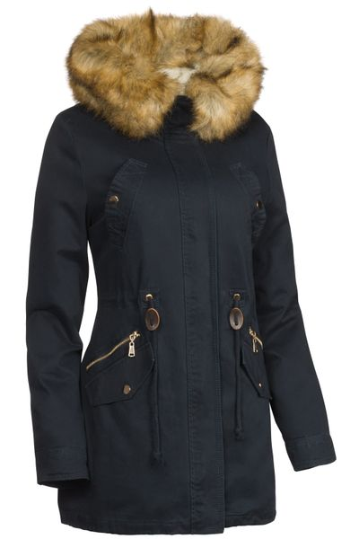 3 in 1 Damen Winter Jacke 100% Baumwolle Military Style – Bild 3
