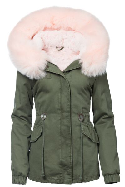 Damen Winter Cotton Jacke Pelz Kapuze – Bild 2