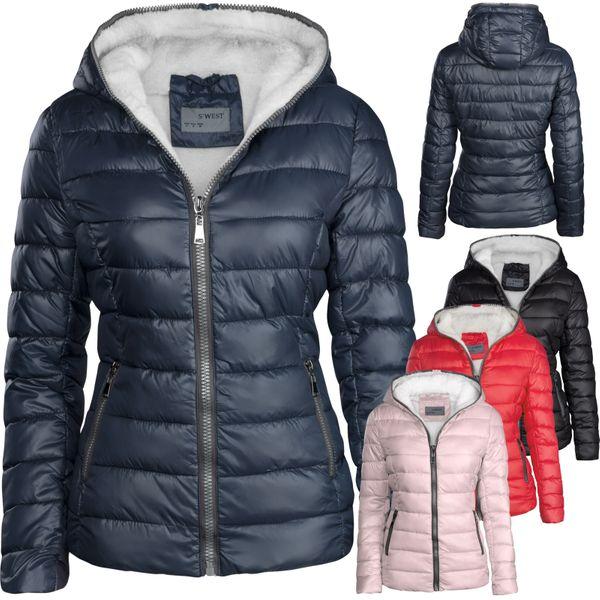 Damen Winter Jacke Kurz Gefüttert