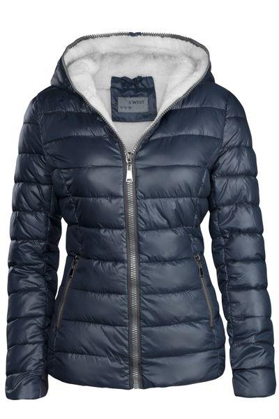 Damen Winter Jacke Kurz Gefüttert – Bild 2