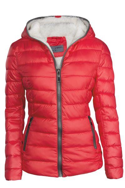 Damen Winter Jacke Kurz Gefüttert – Bild 7