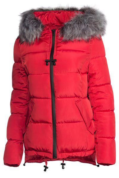 Damen Winter Kurz Jacke Pelz Kragen – Bild 13