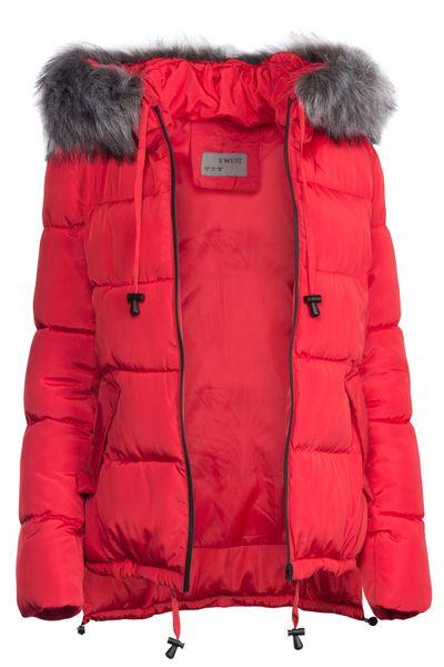 Damen Winter Kurz Jacke Pelz Kragen – Bild 14