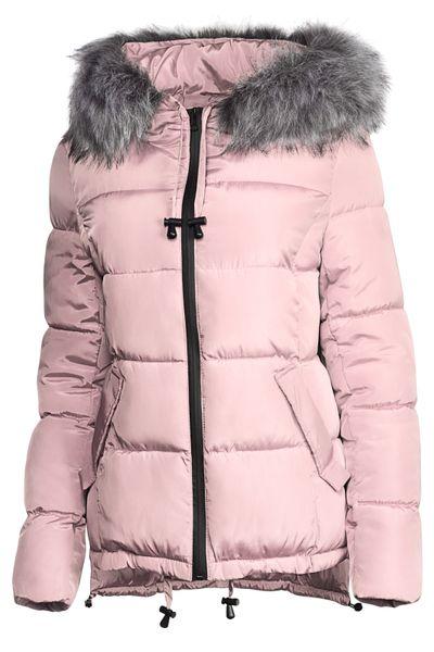 Damen Winter Kurz Jacke Pelz Kragen – Bild 18