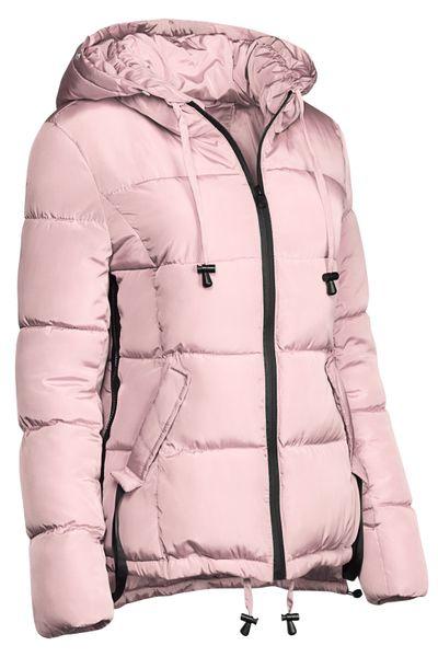 Damen Winter Kurz Jacke Pelz Kragen – Bild 20