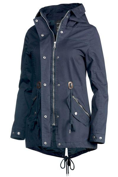 Trisens Damen Jacke Übergangsjacke Trenchcoat mit Kapuze Baumwolle Cotton – Bild 4
