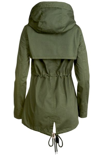 Trisens Damen Jacke Übergangsjacke Trenchcoat mit Kapuze Baumwolle Cotton – Bild 11