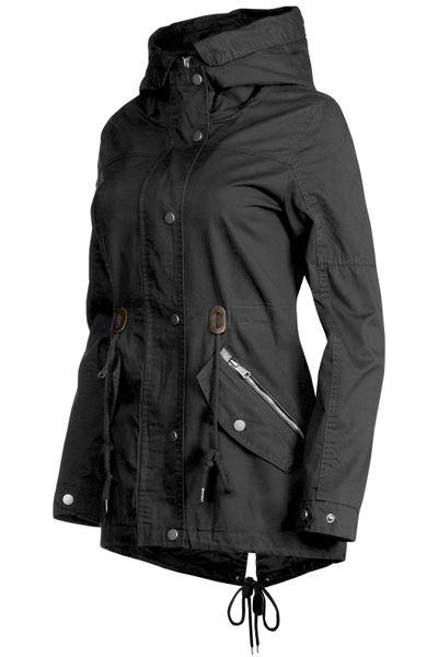 Trisens Damen Jacke Übergangsjacke Trenchcoat mit Kapuze Baumwolle Cotton – Bild 13