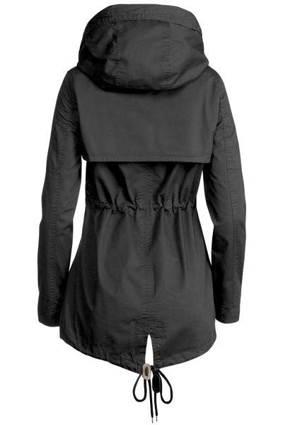 Trisens Damen Jacke Übergangsjacke Trenchcoat mit Kapuze Baumwolle Cotton – Bild 16