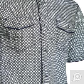 Trisens Herren Hemd  Kurzarm Kontrast Knopfleiste – Bild 5