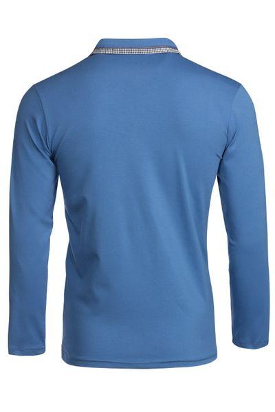 Herren Langarm Shirt aus Baumwolle Polokragen Polohemd  – Bild 3