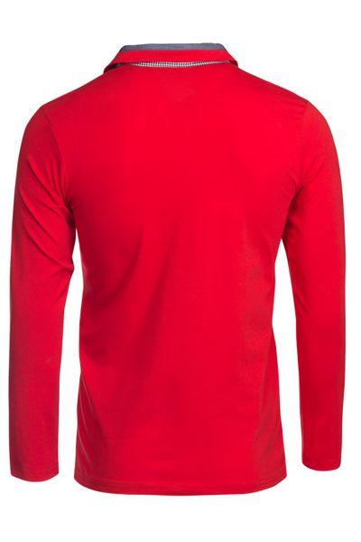 Herren Langarm Shirt aus Baumwolle Polokragen Polohemd  – Bild 11