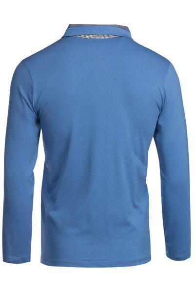 Herren Langarm Shirt aus Baumwolle Polokragen Polohemd  – Bild 19
