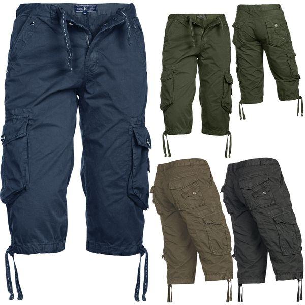 Herren Shorts 100% Baumwolle Bermuda Cargo – Bild 1