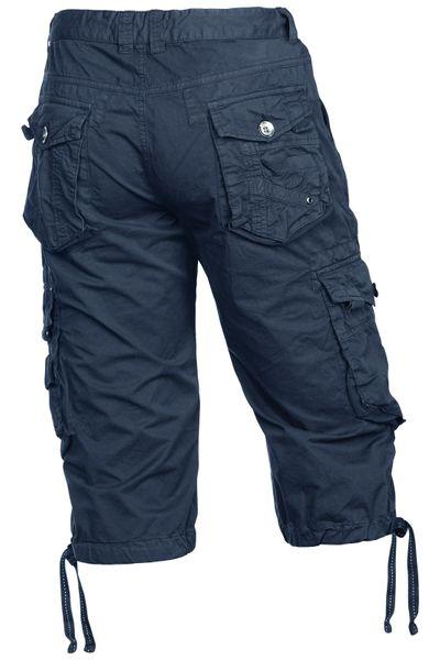 Herren Shorts 100% Baumwolle Bermuda Cargo – Bild 3