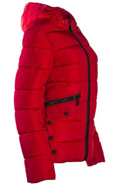 Gsteppte Damen Winter Warme Jacke mit abnehmbarem Kunstfell gefüttert – Bild 14