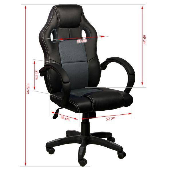 Chefsessel Bürostuhl Gamingstuhl Schreibtischstuhl – Bild 22