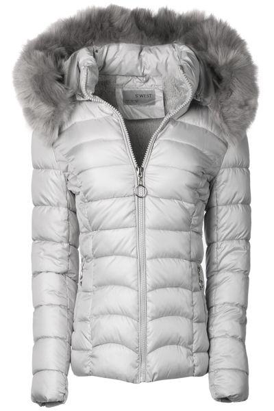 Damen Winter Jacke Parka kurze Mantel Teddyfell  – Bild 22
