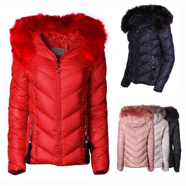 Damen Winter Jacke Parka Mantel kurz – Bild 1