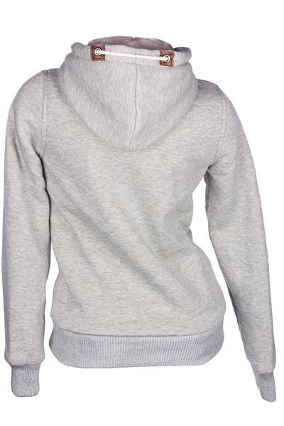 Winter Hoodie Kapuzenpullover Webpelz Gefüttert Damen Jacke Sweatjacke Zip Hoody – Bild 16