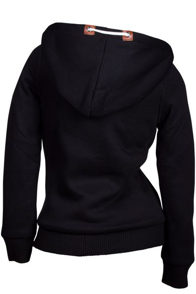 Winter Hoodie Kapuzenpullover Webpelz Gefüttert Damen Jacke Sweatjacke Zip Hoody – Bild 11