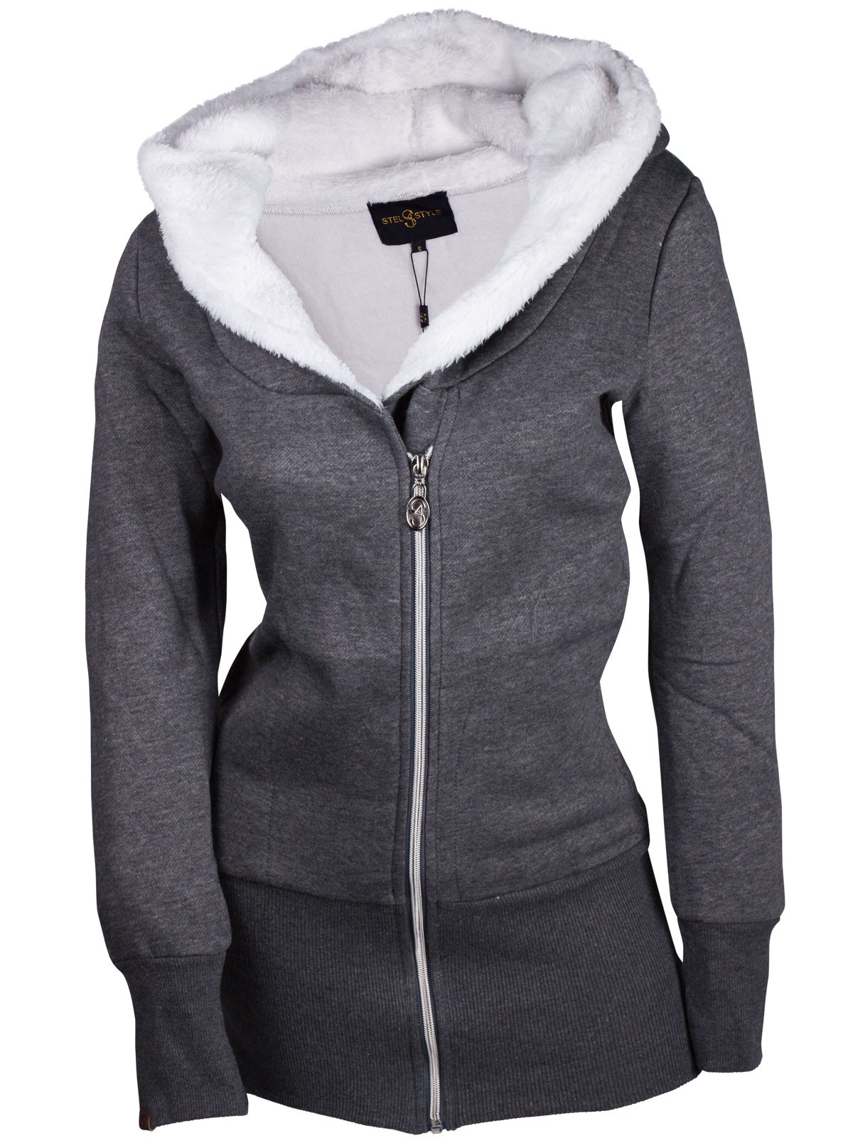damen hoodie kapuzenpullover kapuze sweater jacke pulli. Black Bedroom Furniture Sets. Home Design Ideas