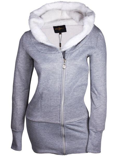 Damen Hoodie Kapuzenpullover Kapuze Sweater Jacke Pulli Hoody S M L XL – Bild 3