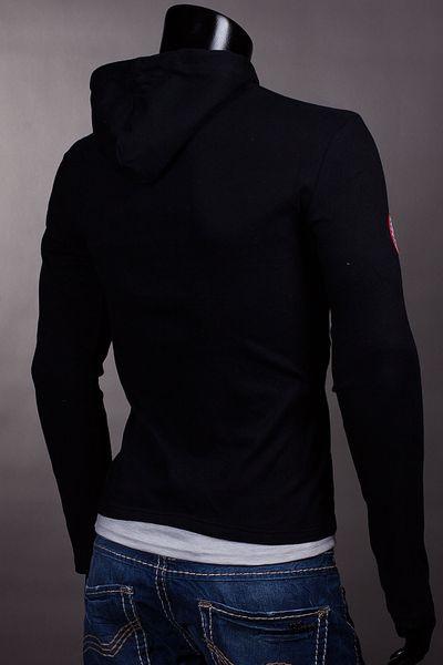 Herren Slim Fit Kapuzen Pullover Hoodie Jacke Sweatjacke – Bild 16