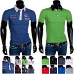 Poloshirt Herren T-Shirt Party Polo Sommer Hemd Slim Kurzarm