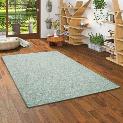 Schlingen Teppich Memory Grün Meliert