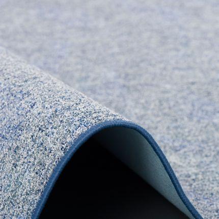 Schlingen Teppich Memory Blau Meliert Rund online kaufen