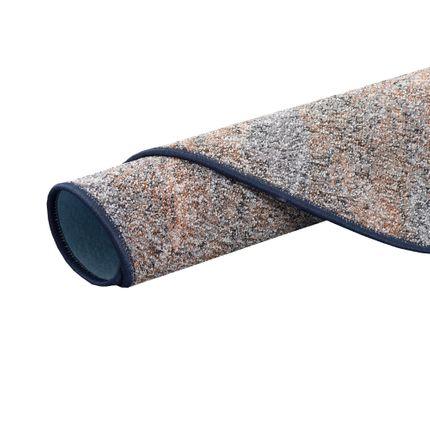 Schlingen Teppich Memory Grau Blau Meliert Rund in 7 Größen online kaufen