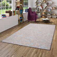 Schlingen Teppich Memory Grau Blau Meliert in 24 Größen online kaufen