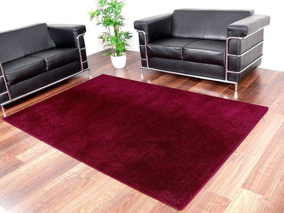 Edel Velours Teppich Pearl Burgund  online kaufen