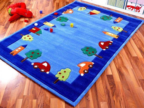 Lifestyle Kinderteppich Spielwelt Blau  online kaufen