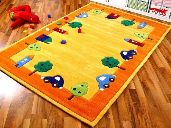 Lifestyle Kinderteppich Spielwelt Gelb