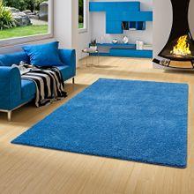 Hochflor Shaggy Teppich Palace Blau online kaufen