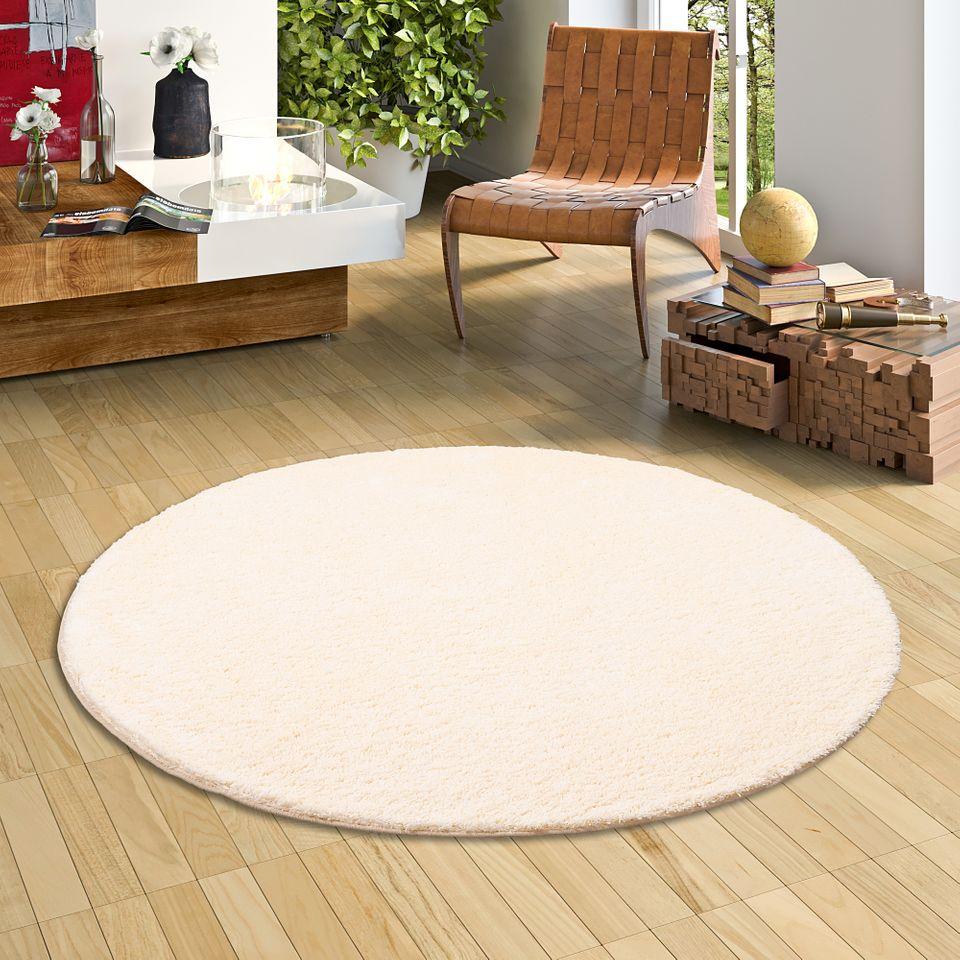 hochflor shaggy teppich palace creme rund teppiche. Black Bedroom Furniture Sets. Home Design Ideas