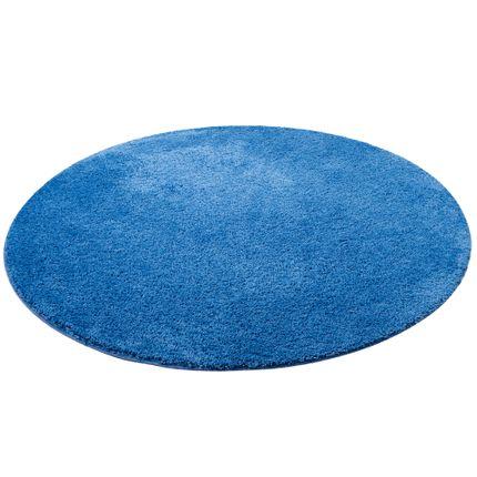 Hochflor Shaggy Teppich Palace Blau Rund online kaufen