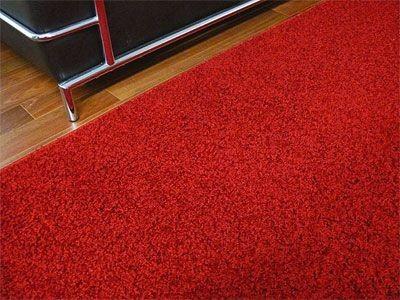 Teppich Hochflor Shaggy Prestige Knallrot online kaufen