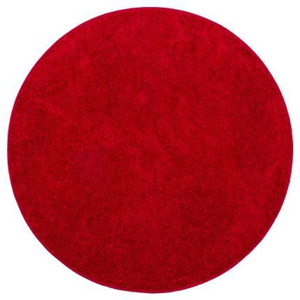 Teppich Hochflor Shaggy Cottage Rot Rund online kaufen