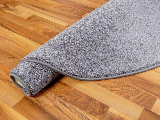 Hochflor Velours Teppich Triumph Grau Rund in 7 Größen online kaufen