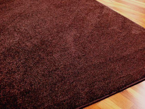 Hochflor Velours Teppich Triumph Schoko in 24 Größen online kaufen